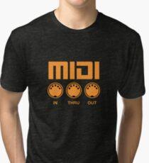 Midi  Orange Tri-blend T-Shirt