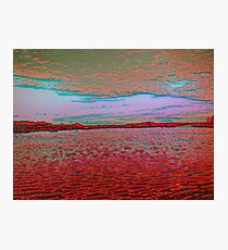 Lake as if on fire  -  Sky as if alive Photographic Print