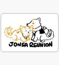 Jon Snow Sansa Stark Puppy Reunion Sticker