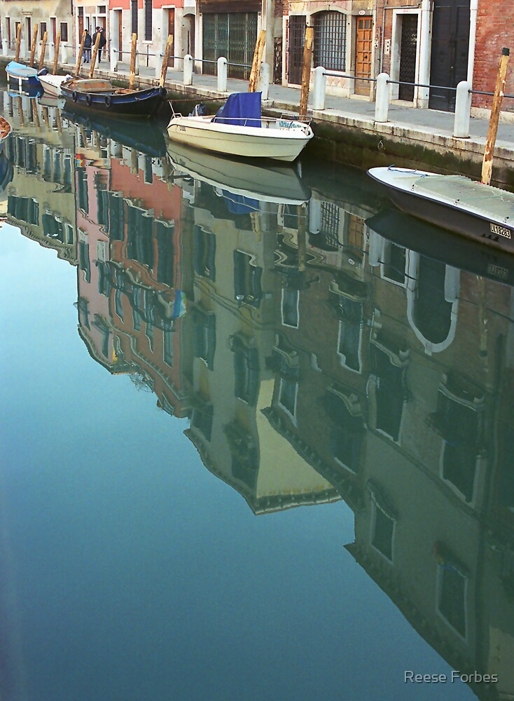 Reflection In A Venice Canal by Reese Forbes
