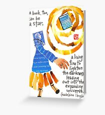 Stamp People Series (A Book Can Be A Star) Greeting Card