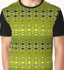 Zitronengelb und Schwarz Grafik T-Shirt