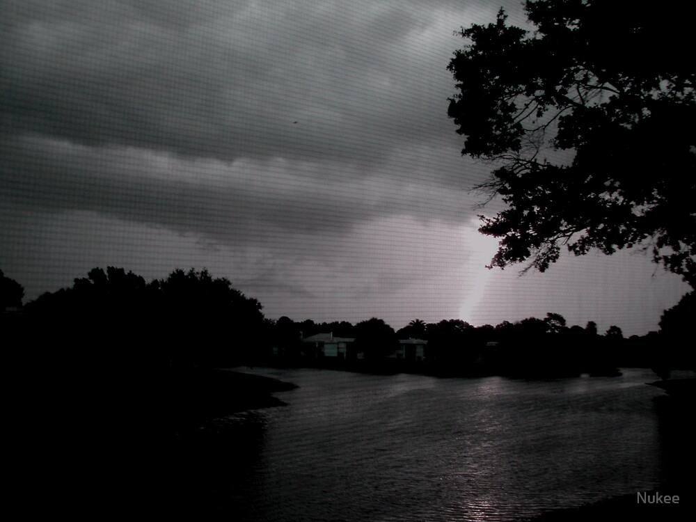 Lightning over the Lake by Nukee