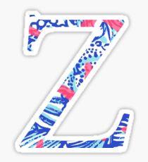 Zeta Tropical Letter Sticker