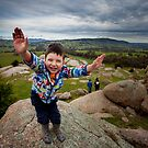 Henry - on top of the world! by Paul Grinzi
