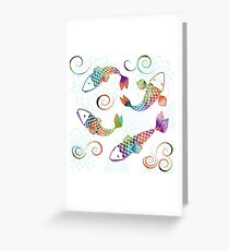Peaceful Kois Greeting Card