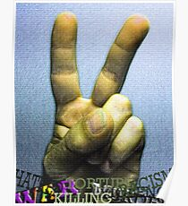 """""""Peace Rules"""" Poster"""