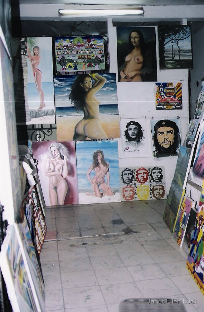 Art Gallery Habanna Cuba by Janet Ellen Lusk
