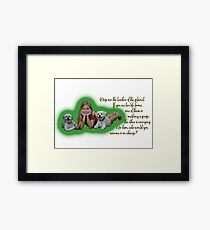 Dogs are the leaders of the planet. Framed Print