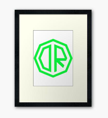 Dr. Octagon Octagynacologist Mowax Logo replica print green Framed Print