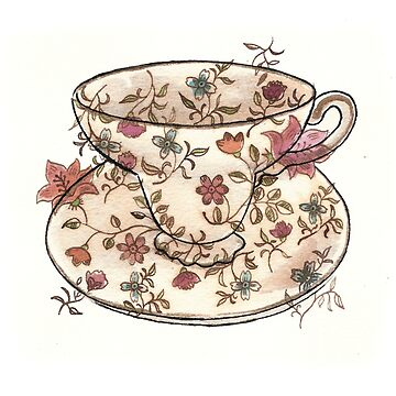 A floral pattern tea cup by JoWaite