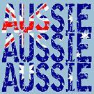 Aussie Aussie Aussie Flag by EthosWear