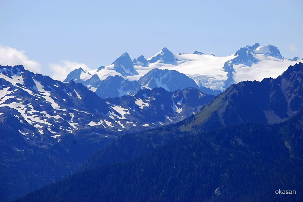 Mt Olympus, Olympic Mountains, Wa by okasan