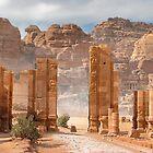 Temenos Gateway in Petra, Jordan by Yair Karelic
