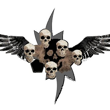 skulls and wings by xulyer