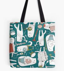 Cats band in blue(s) Tote Bag