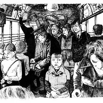 Inside the tram. by JoWaite