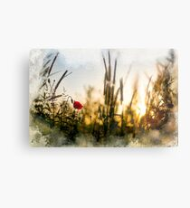 A small magical world painted Metal Print