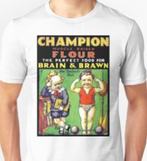 Champion kids, muscle and smart, vintage label, sticker T-Shirt