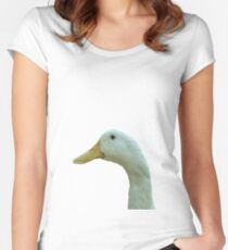 Just Ducky Vector Women's Fitted Scoop T-Shirt