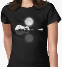 Nature Guitar Night Women's Fitted T-Shirt