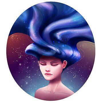 Floating Hair by mongja9