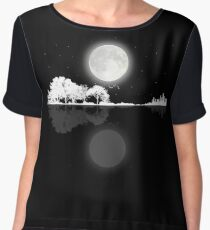 Nature Guitar Night Women's Chiffon Top
