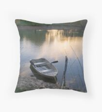 The Empty Rowing Boat, Adelaide Hills Throw Pillow