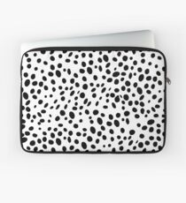 Black and White Polkadot Laptop Sleeve