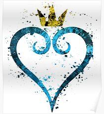 Kingdom Hearts Splatter Poster