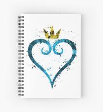 Kingdom Hearts Splatter Spiral Notebook
