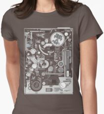 techno computer chip Womens Fitted T-Shirt