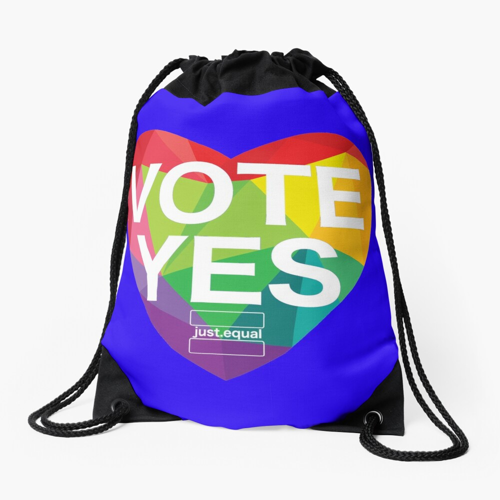 Australia, Vote Yes! Drawstring Bag