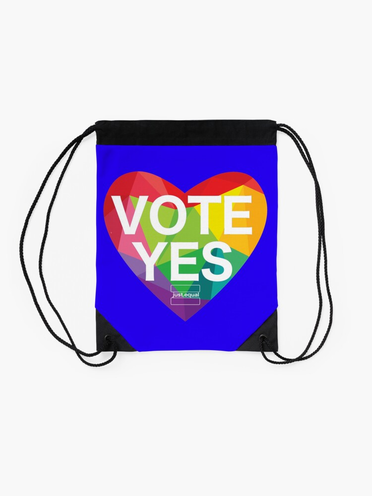 Alternate view of Australia, Vote Yes! Drawstring Bag