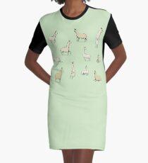 Lamas T-Shirt Kleid