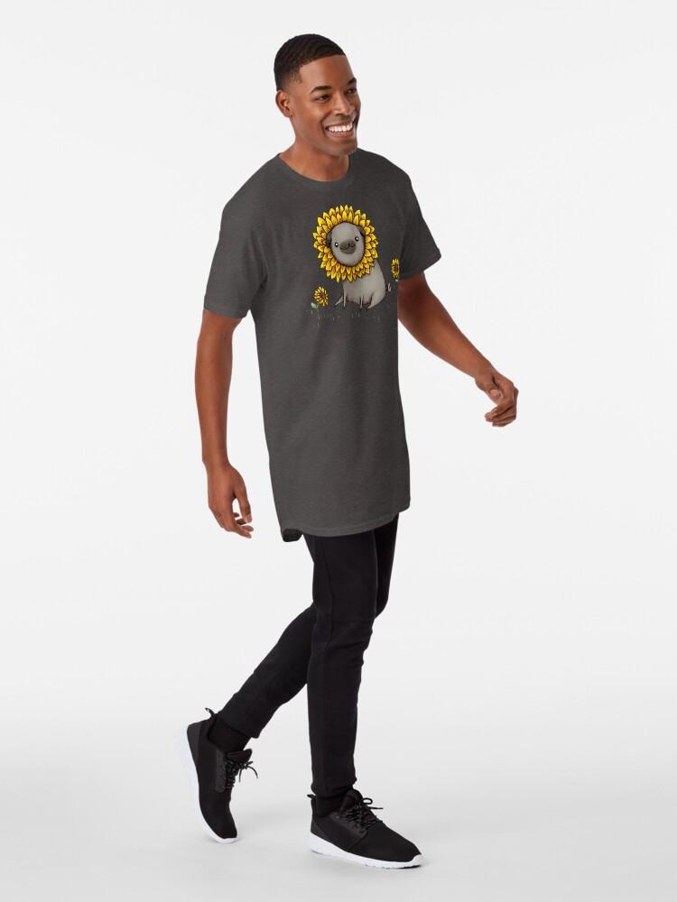Alternate view of Pugflower Long T-Shirt