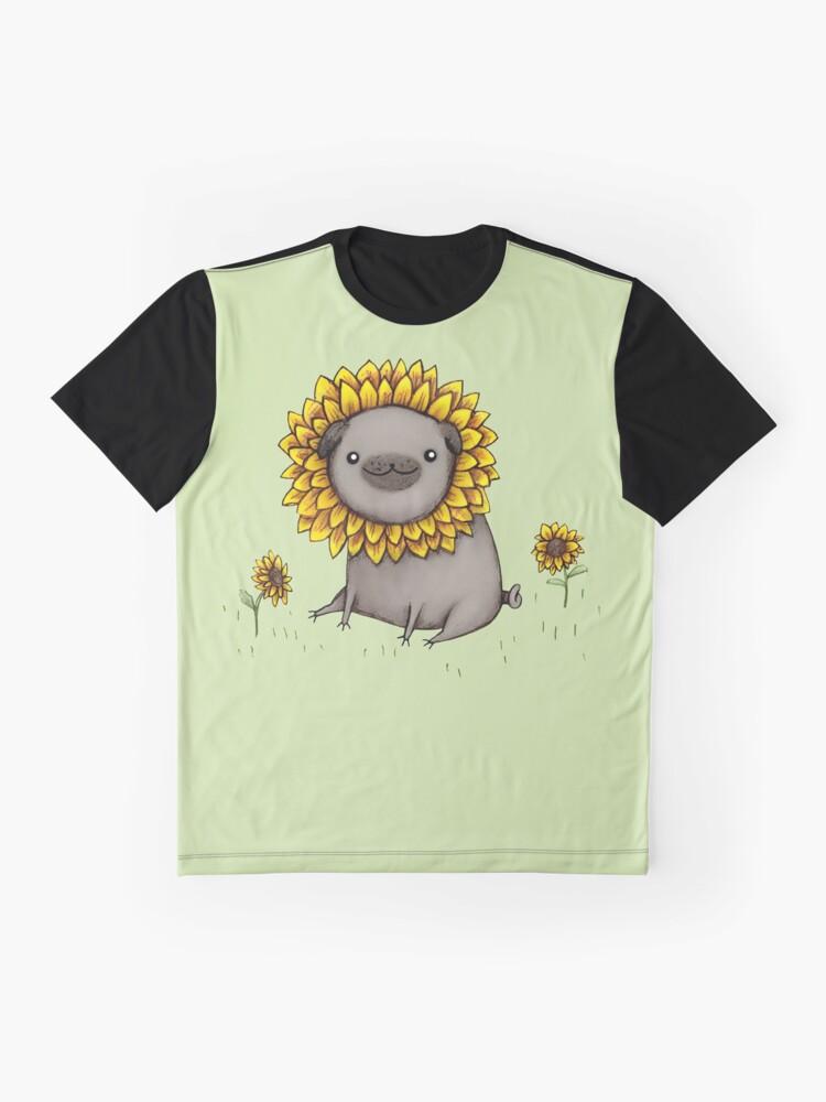 Alternate view of Pugflower Graphic T-Shirt