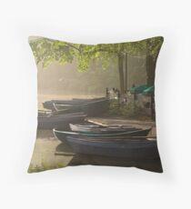Waterside cafe Throw Pillow