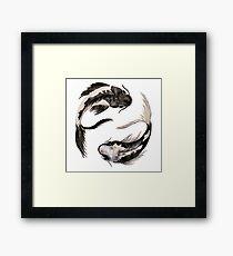 Yin Yang Koi Gerahmtes Wandbild