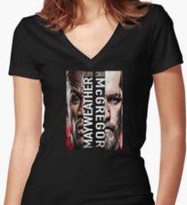 Mcgregor vs Floyd Women's Fitted V-Neck T-Shirt