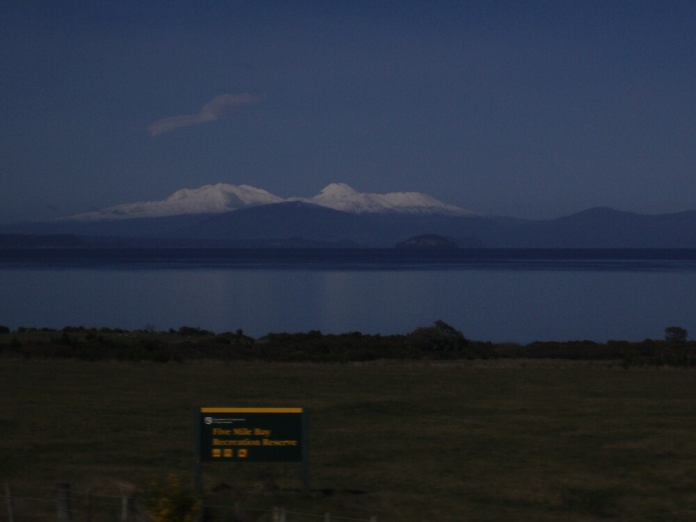 white capped volcano by samaus