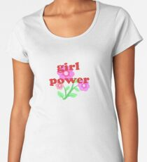 Pretty Girl Flower Power Dress Skirt Decal Women's Premium T-Shirt