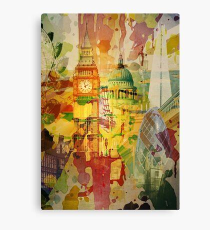 London Splatter Canvas Print