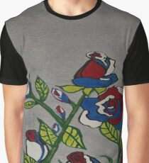 Red White and Blue Roses Graphic T-Shirt