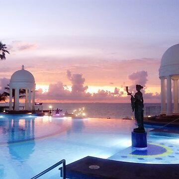 Sunset Cancun by karenkirkham