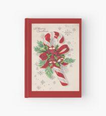 Eine Vintage frohe Weihnacht-Zuckerstange Notizbuch