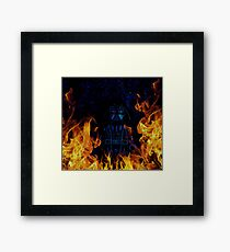 Brickography Pictures - Sith Lord Framed Print