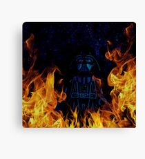Brickography Pictures - Sith Lord Canvas Print