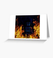 Brickography Pictures - Sith Lord Greeting Card