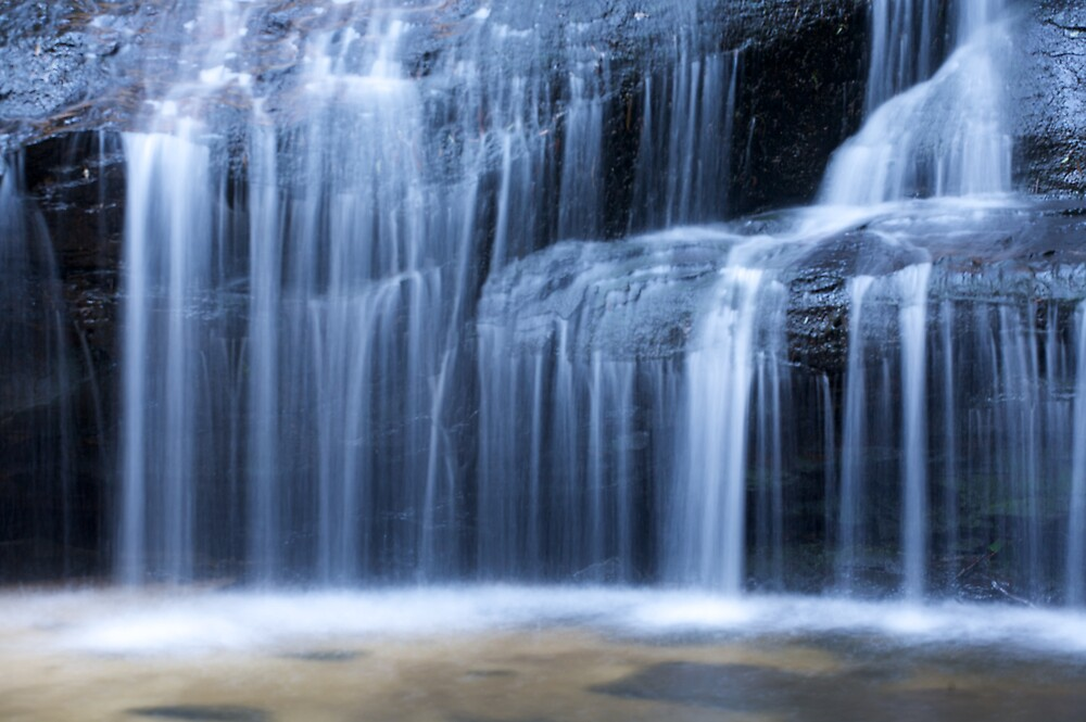 Blue Mountains Waterfall 1 by Mark Williamson